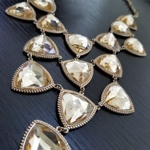 Champagne Gold Jewel Statement Necklace